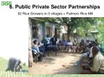 6 public private sector partnerships 52 rice growers in 3 villages palmero rice mill
