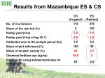 results from mozambique es cs