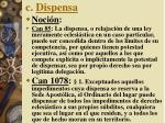 c dispensa