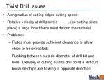 twist drill issues