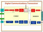 digital communications transceiver
