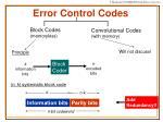 error control codes