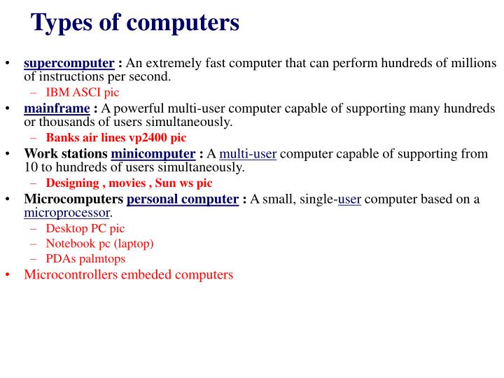 types of computer users essay Disclaimer: free essays on computers posted on this site were donated by anonymous users and are provided for informational use only the free computers research paper (internet security essay) presented on this page should not be viewed as a sample of our on-line writing service.