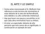 el arte y lo simple