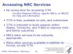 accessing nrc services