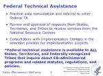federal technical assistance1