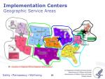 implementation centers geographic service areas