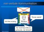 non verbale kommunikation