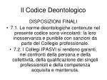 il codice deontologico17