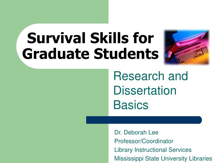 survival skills for graduate students n.