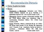 recomendaci n dietaria