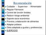 recomendaci n