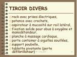 tiroir divers