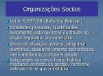 organiza es sociais