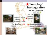 four key heritage sites and two connexional archives