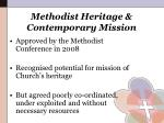 methodist heritage contemporary mission