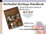 methodist heritage handbook