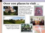 over 100 places to visit