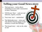 telling your good news story