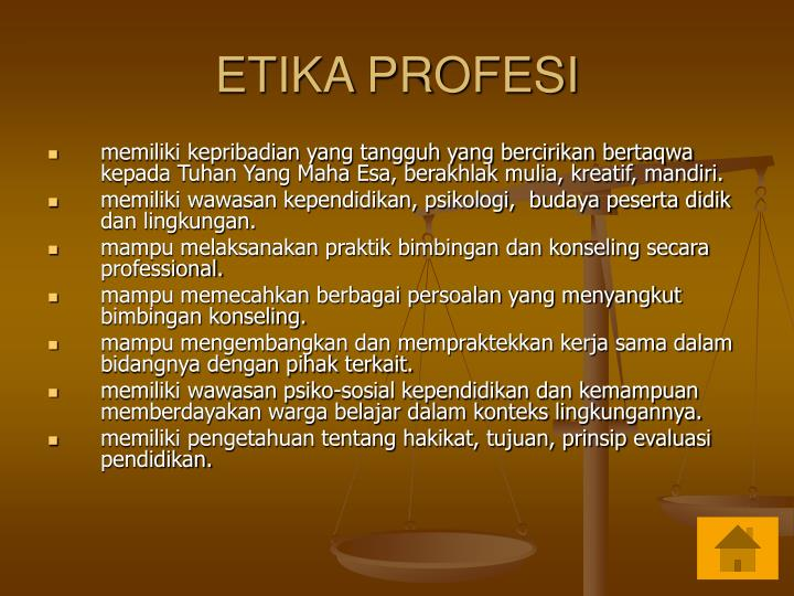 ETIKA PROFESI