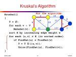 kruskal s algorithm11