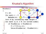kruskal s algorithm13