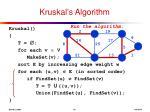 kruskal s algorithm14
