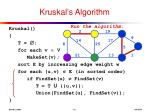 kruskal s algorithm6