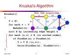 kruskal s algorithm7