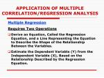application of multiple correlation regression analysis1