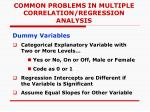 common problems in multiple correlation regression analysis4