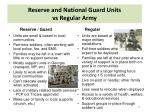 reserve and national guard units vs regular army
