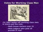 votes for working class men