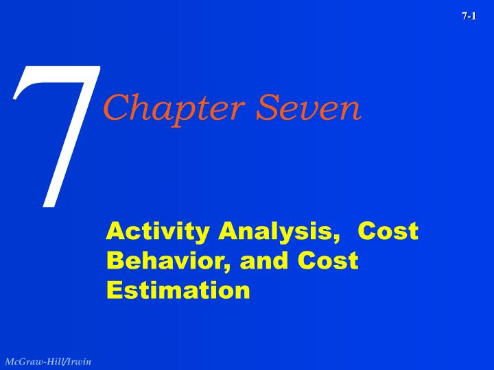 activity analysis cost behavior and cost estimation n.