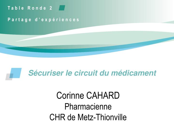 s curiser le circuit du m dicament n.