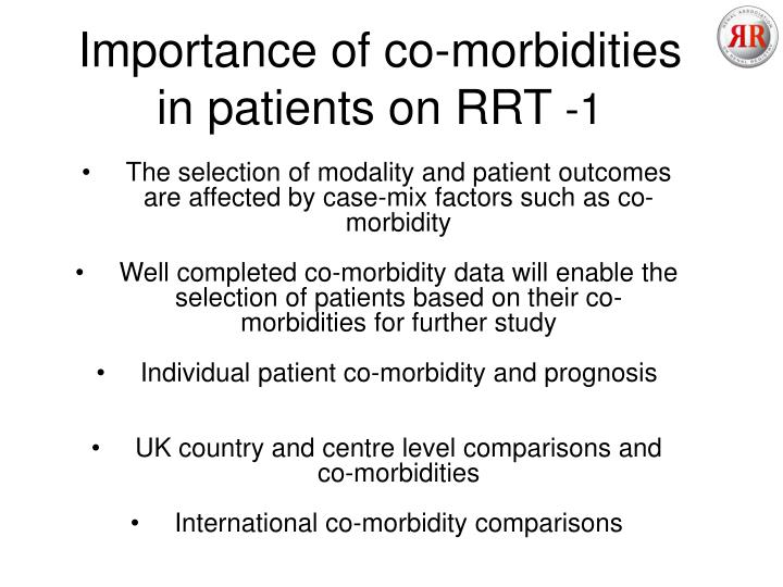 Importance of co-morbidities