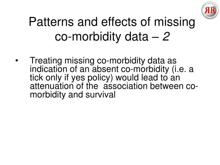 Patterns and effects of missing