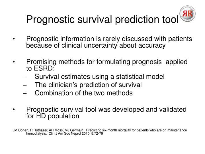 Prognostic survival prediction tool