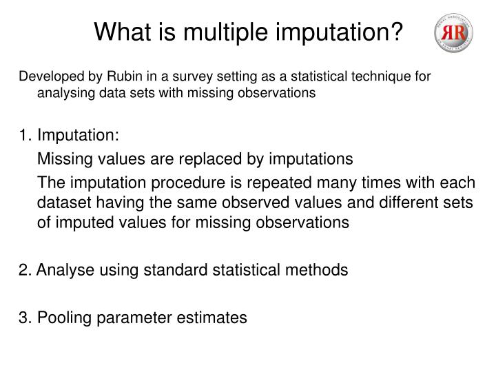 What is multiple imputation?