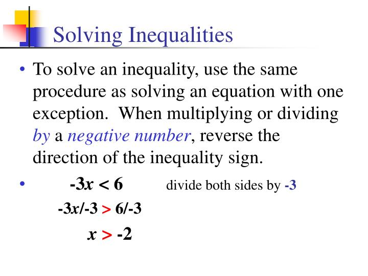 solving inequalities n.