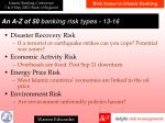 a n a z of 50 banking risk types 1 3 16