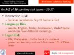 a n a z of 50 banking risk types 2 5 27