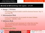 a n a z of 50 banking risk types 21 2 4