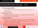 a n a z of 50 banking risk types 47 49