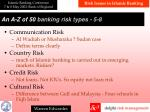 a n a z of 50 banking risk types 5 8