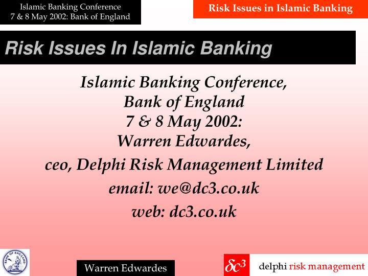 risk issues in islamic banking n.