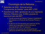 cronolog a de la reforma4