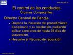 el control de las conductas rganos competentes7