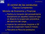 el control de las conductas rganos competentes8