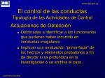 el control de las conductas tipolog a de las actividades de control3